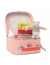 La Grand Famille Мышонок-малыш со спальными принадлежностями в чемоданчике