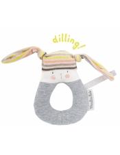 Les Petits Dods погремушка-кольцо Кролик